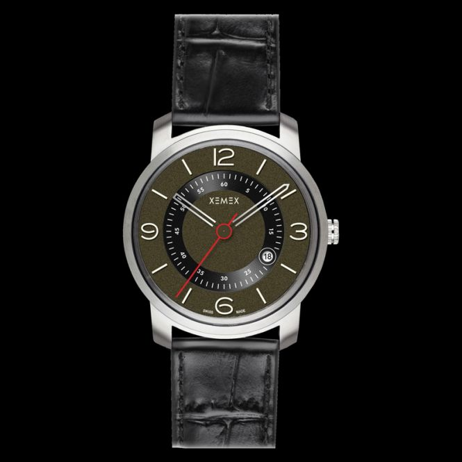 XEMEX PICCADILLY QUARTZ Ref. 880.24 3 HANDS DATE